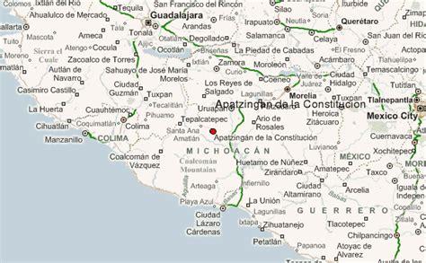 de michoacan mexico map apatzingan de la constitucion location guide