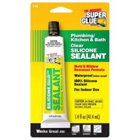 Silicone For Plumbing by Glue 1 4 Fl Oz Mold And Mildew Resistant Silicone