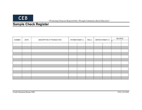 check register worksheet kays makehauk co