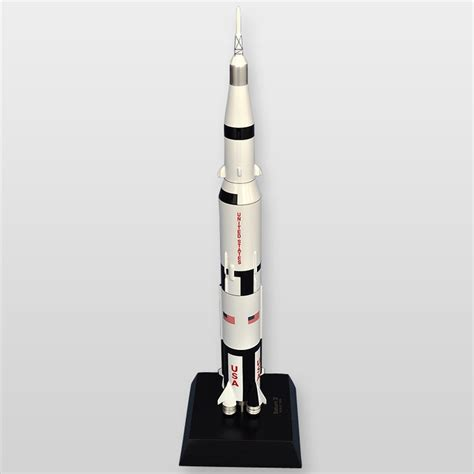 apollo saturn v model saturn v rocket with apollo