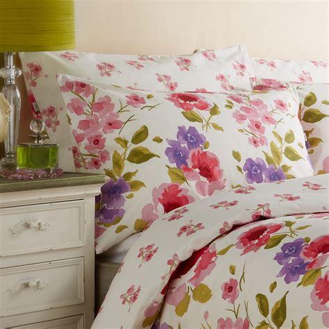 floral bed linen uk vantona freya floral duvet cover set pink