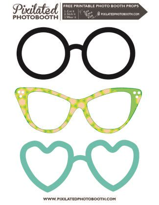 printable photo booth props glasses free printable glasses party time pinterest