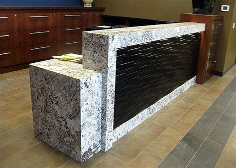 Granite Reception Desk Granite Reception Desk Sorrento Reception Desk With Granite Counter Mayline Furniture Srcdm