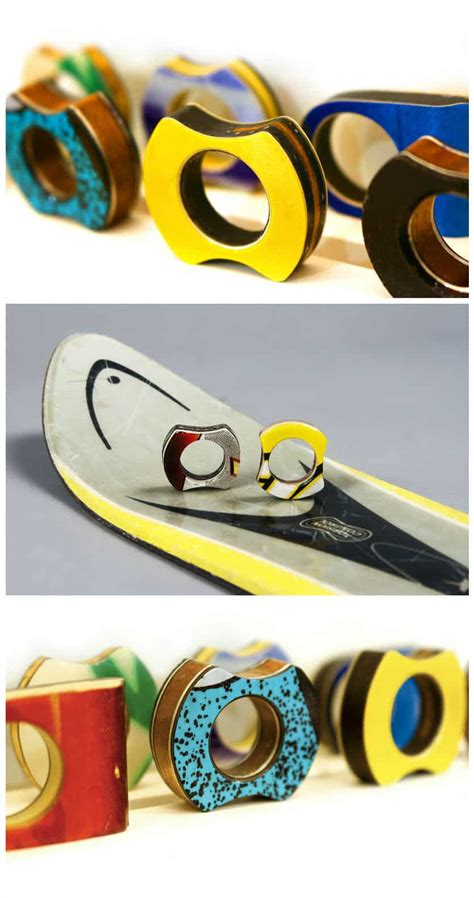 rings    recycled skis recyclart