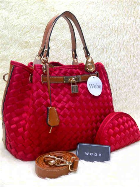 Webe 030 Semipremiun Bhn Polyster wb kd 037 semor free pouch gembok bhn polyster blink
