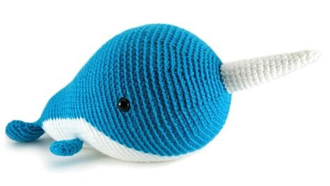 knitted narwhal walden the narwhal or whale crochet pattern by megan