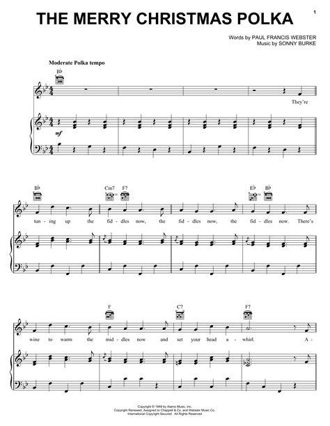 merry christmas polka sheet  direct