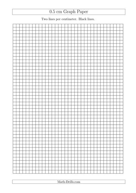 0.5 cm Graph Paper with Black Lines (A4 Size) (A)