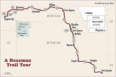 bozeman trail map bozeman trail true west magazine