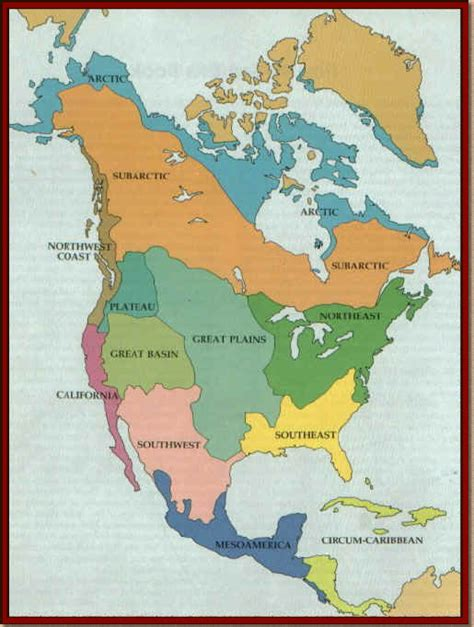 america map american tribes 7thgradehumanities americans