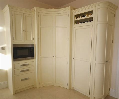 Kitchen With Pantry Cabinet Bespoke Painted Kitchen Corner Larder In A Cream From