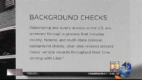 Driver Background Check Uber Drivers Background Check Questioned One News Page