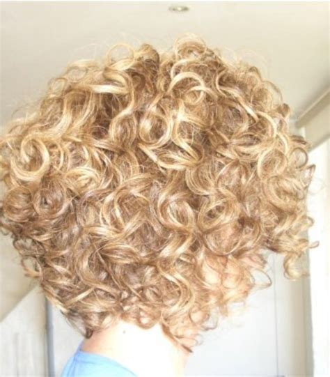 stacked permed hairstyle curly stacked bob curly pinterest bobs