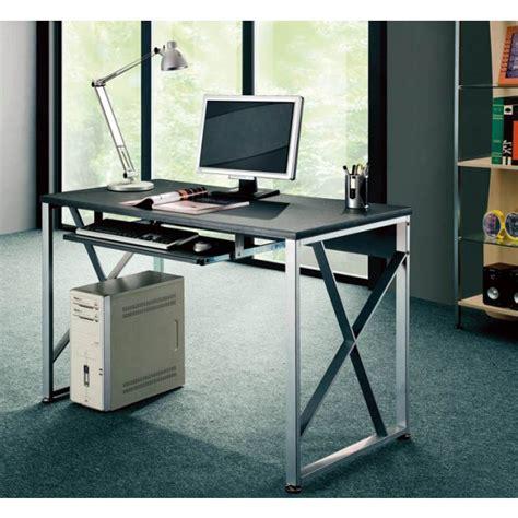 scrivania per pc scrivania per pc con cassetto estraibile nero grafite