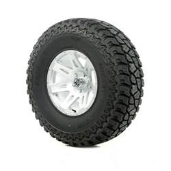 17 Inch Truck Wheel And Tire Packages Wheels And Tires 17 Xhd Silver 37x12 50x17