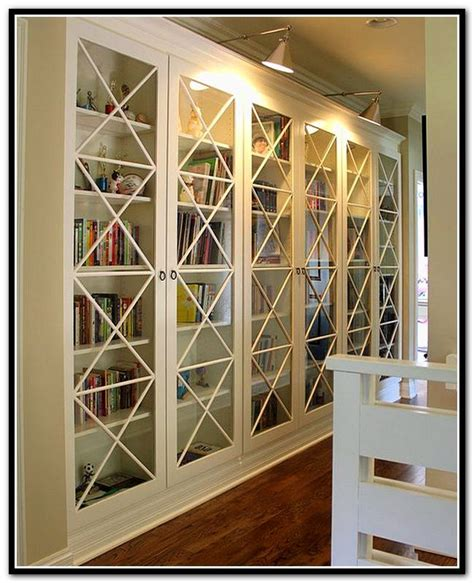 billy bookcases with doors 1000 images about built in bookcases on