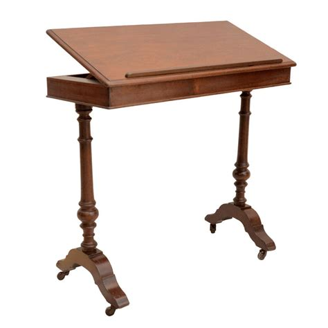 table top reading l english walnut ratchet top reading table at 1stdibs