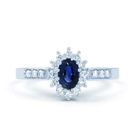 Sapphire And Engagement Rings by Starlight 18ct White Gold Sapphire And Engagement
