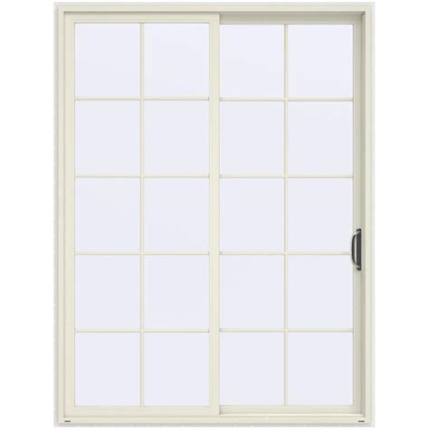 96 Patio Door Jeld Wen 72 In X 96 In V 4500 Vanilla Prehung Right Sliding 10 Lite Vinyl Patio