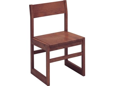 Wooden Library Chair by Integra Wood Library Chair Angled Back Library Chairs