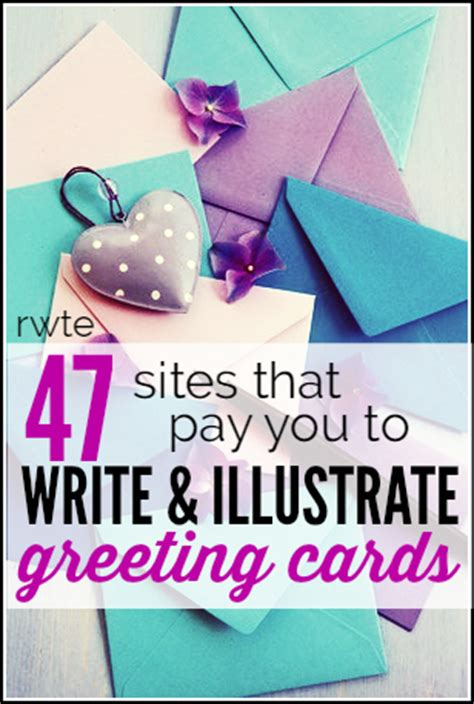 Make Money Writing Greeting Cards Online - huge list of companies that need writers artists for greeting cards