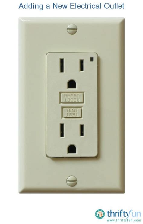 how to an electrical outlet adding a new electrical outlet thriftyfun
