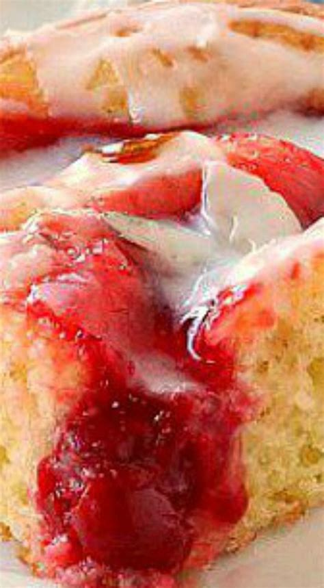 Pie Kunang Mix Flavour glazed cherry coffee cake it is made with a cake mix and cherry pie filling it s moist
