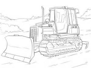 coloring page of tractor and snow plow old tractor plowing coloring pages