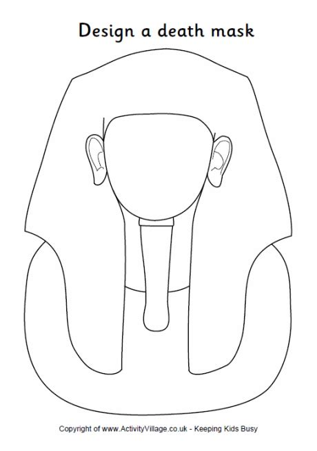 King Tut Mask Template by Design A Mask From Ancient
