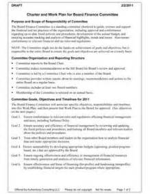 Committee Charter Template by Committee Charter Template Best Template Idea
