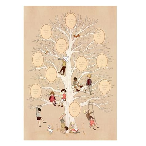 family tree poster from belle boo unique christmas