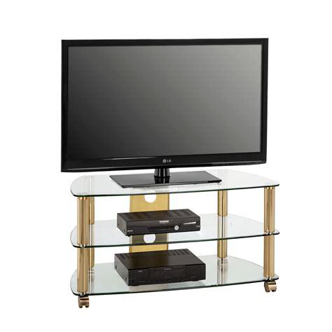 tv rack messing tv tisch klarglas g 252 nstig kaufen - Tv Rack Messing