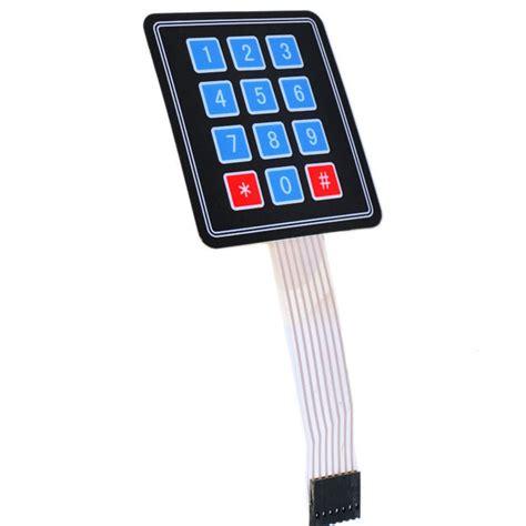 Keypad Membrane Matrix 12 ηλεκτρονικά αισθητήρες keypad joystick 3x4 12