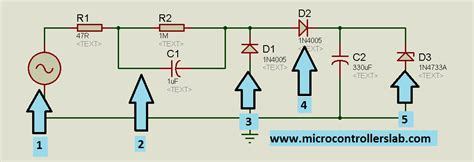 capacitor power supply for microcontroller transformer less power supply for microcontrollers