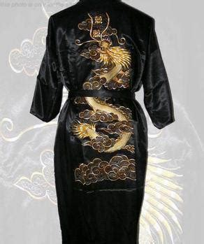 wholesale navy blue mens silk satin embroidery