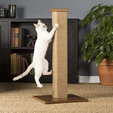 Home Decor Handmade square jute cat scratching post from prevue pet hauspanther