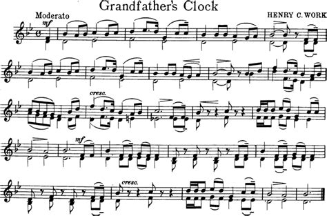 grandfather s clock grandfathers clock free violin sheet