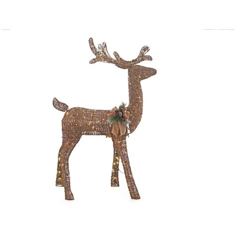 animated deer home accents 5 ft pre lit grapevine animated