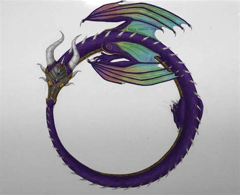 ouroboros dragon drawing www pixshark com images