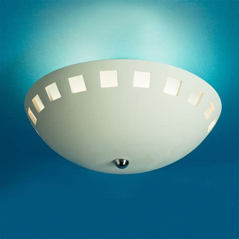 13 5 quot ceramic bowl ceiling light w block cut out