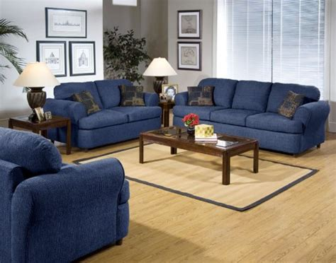blue living room set couchesusa navy couches serta upholstery hang tough blue fabric sofa loveseat living