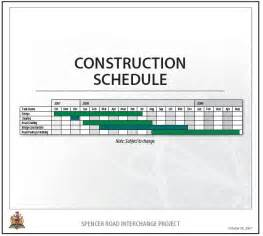 building work schedule template construction work schedule template