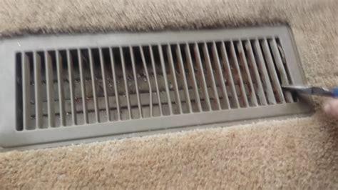 remove  floor heater register floor vent  cleaning youtube