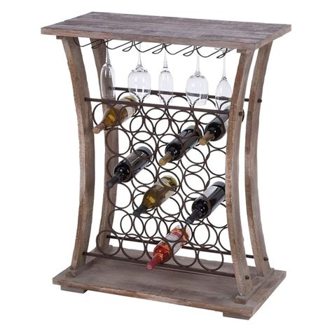 The Rack Hours Woodland Imports Hours Wood Metal Wine And Stemware