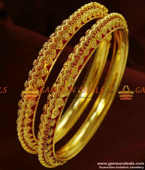 Handmade Bangles Designs - br122 2 6 size antique design heavy bangles handmade