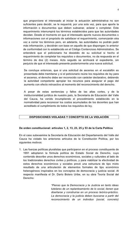 requisitos ascenso a la 14 escalafon docente 2277 2016 formato tutela costo acumulado para docentes 2277