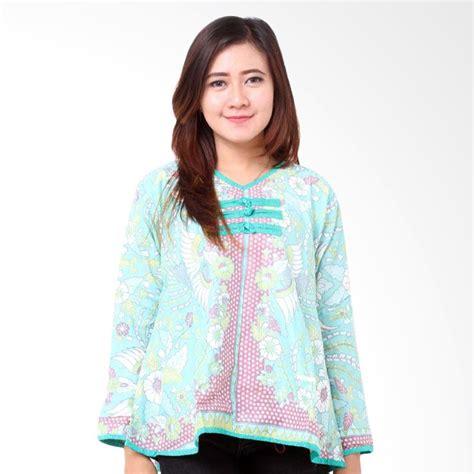 Blouse Motif Atasan Wanita Muslim Tunik Royal Puff blouse batik wanita lengan panjang collar blouses