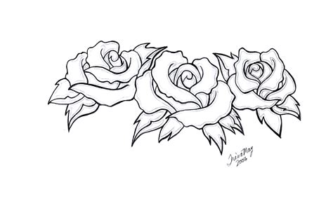 3 rose tattoos three roses design by tailormaid on deviantart