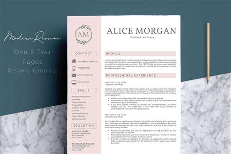 professional creative resume template alice morgan