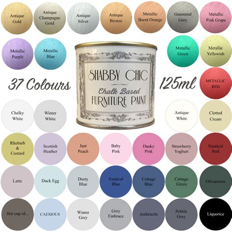 shabby chic paint colours shabby chic chalk paint for furniture 125ml matt finish